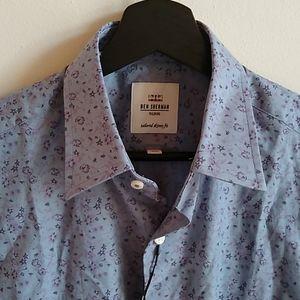 Ben Sherman Mens Floral Chambray Tailored Shirt